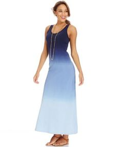 American Living Sleeveless Ombre Maxi Dress