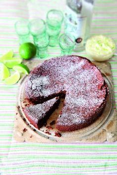 flourless chocolate lime cake with margerita cream #glutenfree #grainfree