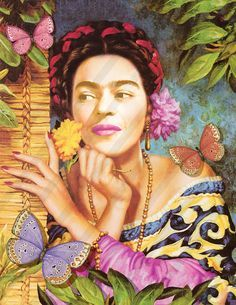 Frida Kahlo Digital Collage Instant download Printable