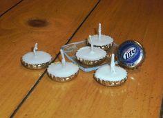 Beer Bottle Cap Candles