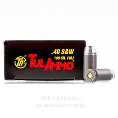 TulAmmo 40 cal Ammo - 500 Rounds of 180 Grain FMJ Ammunition #Tula #TulAmmo #40CalAmmo #40Cal #FMJ