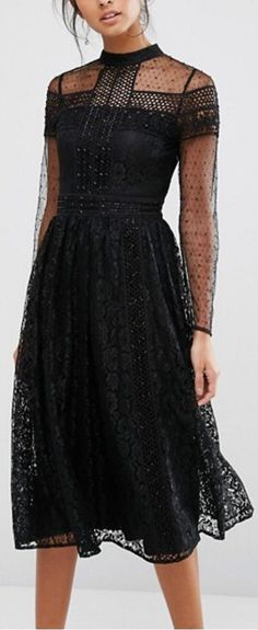 @roressclothes clothing ideas #women fashion black dress Latest Fall/Winter Outfits Collection. Lovely Look.