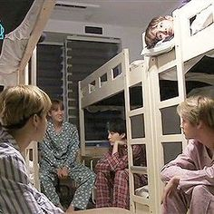 BANGTAN BOYS in pajamas •jin is in pink im not surprised•