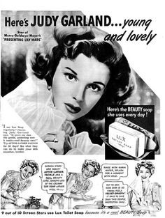 Judy Garland uses Lux Toilet Soap in 1943