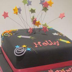 One Tier Firework Birthday Cake