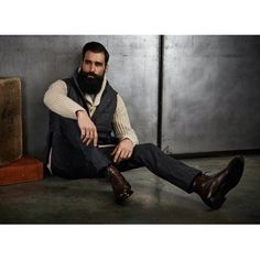 Luke Ditella - full thick black beard and mustache dark beards bearded man men mens' style fall winter fashion dapper vintage retro boots handsome #therewillbeblood