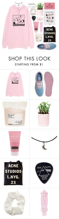 """""""rain in the summer"""" by neightasha ❤ liked on Polyvore featuring Vans, Davines, Neutrogena, Acne Studios, Floyd, Topshop and Mamonde"""