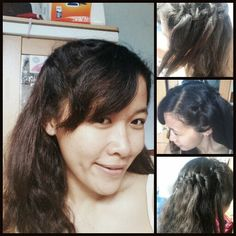 Waterfall bride hairstyle