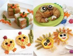 Kids food, so cute! My kids would love me.