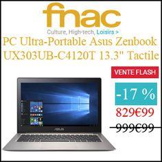 """#missbonreduction; Vente Flash : économisez 17 % sur le PC Ultra-Portable Asus Zenbook UX303UB-C4120T 13.3"""" Tactile chez FNAC.http://www.miss-bon-reduction.fr//details-bon-reduction-FNAC-i329-c1831046.html"""