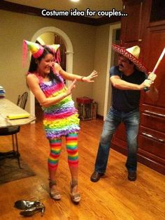 Haha! Love this couples costume! My husband would have too much fun with this one!