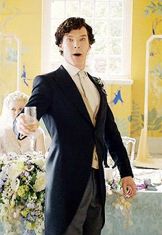 Okay done The purple shirt of sex, did Shezza the other day so I think a bit of wedding dapper Sherlock for the weekend Batch of Day... Ladies and Gentleman be upstanding for...The Best Man for @Paulina Langarica  ;-) hope you like it