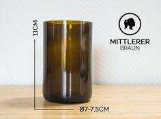Gläser - MITTLERER / Ø 7-7,5CM/ BRAUN (Glas / Becher) - ein Designerstück von Glaeserne_Transparenz bei DaWanda