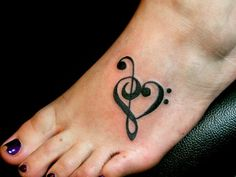 Best representation descriptions: Music Foot Tattoo Designs Related searches: Small Simple Tattoos for Girls,Cute Simple Tattoo Ideas Girl,. Heart Foot Tattoos, Cute Foot Tattoos, Simple Heart Tattoos, Foot Tattoos For Women, Ankle Tattoos, Small Tattoos, Awesome Tattoos, Cutest Tattoos, Easy Tattoos