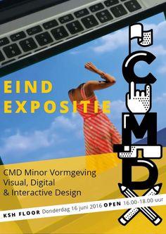 Uitnodiging eindexpositie CMD minor Vormgeving