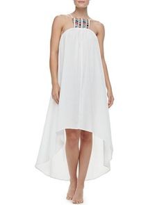 Paradiso Midi Embroidered High-Low Dress Coverup by 6 Shore Road @Neiman Marcus