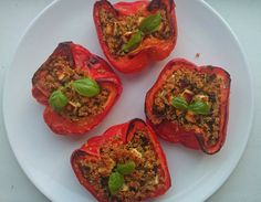 Happytarianer: Paprika fylt med feta og quinoa