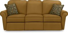 I am all about the comfortable (reclining!) couch!  Jenna La-Z-Time® Full Reclining Sofa by La-Z-Boy