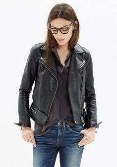 Ultimate Leather Motorcycle Jacket - Fashion for tall women | tall clothing | tall style | tall ootd | long arms | tall clothes