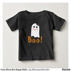 Cute Ghost Boo Happy Halloween Baby Shirt