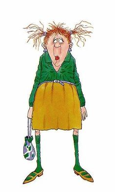schlappe Frau - New Ideas Old Lady Humor, Cartoon People, Art Impressions, Style Challenge, Digi Stamps, Funny Cards, Whimsical Art, Old Women, Painted Rocks