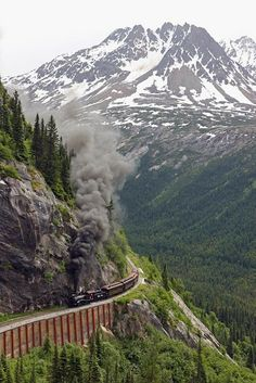 Mountain Rail, Yukon, Alaska They built this after I got to see Alaska/Yukon. I love trains. Oh The Places You'll Go, Places To Travel, Places To Visit, Travel Pics, Yukon Alaska, Skagway Alaska, Yukon Canada, Alaska Usa, North To Alaska