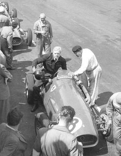 Mike Hawthorn, Ferrari 500, #8, (finished 5th) practice at British Grand Prix was a Formula Two race held at Silverstone Circuit on 18 July 1953.