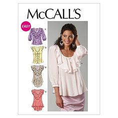 McCall's Patterns M6467 Misses' Tops, Size E5 (14-16-18-20-22) McCall Pattern Company