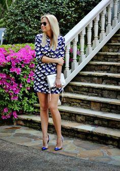 Swan Print Dress Streetstyle