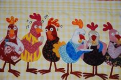 applique chickens