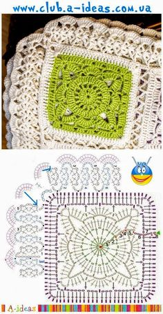 Transcendent Crochet a Solid Granny Square Ideas. Inconceivable Crochet a Solid Granny Square Ideas. Motifs Granny Square, Crochet Blocks, Granny Square Crochet Pattern, Crochet Borders, Crochet Diagram, Crochet Stitches Patterns, Crochet Chart, Crochet Squares, Crochet Granny
