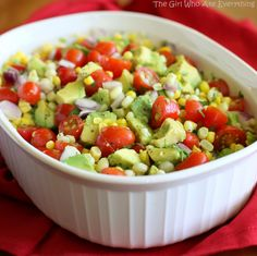 Corn, Avocado, and Tomato Salad, sounds so light and refreshing, with 3 of my fav vegetables!