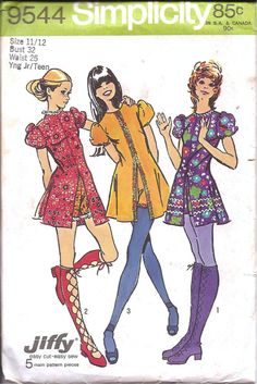 I loved the 70's clothes  My Mom made this outfit for me it was like the one in the middle but green with flower trim... hot pants were cool.