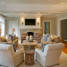 Classy And Neutral Family Room  Domicile  Pinterest  Family Glamorous Living Room Furniture Near Me Design Inspiration
