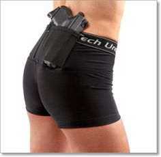 Woman's Compression Concealed Gun Holster 'Short Shorts' by UnderTech