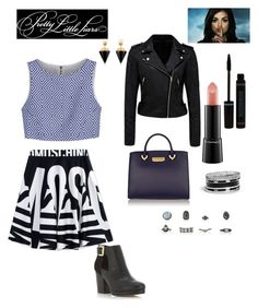 """""""Edgy"""" by aranzasc1 on Polyvore featuring Moschino, Alice + Olivia, Forever New, Miss Selfridge, ZAC Zac Posen, MAC Cosmetics, Vita Fede and GUESS"""
