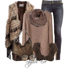 Fur boots outfit