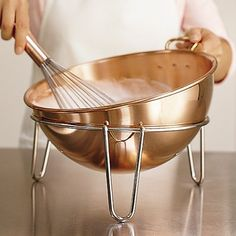 See my egg whites would be perfect if I had this Mauviel Copper Beating Bowl on Williams-Sonoma.com