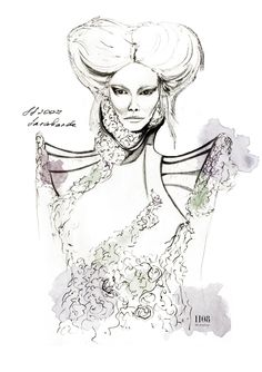 Alexander McQueen SS 2007 'Sarabande' Fashion illustration
