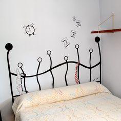 Cómo hacer un cabecero pintado en la pared | La curiosidad que no mató al GATO!   http://shar.es/1nAVRG
