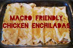Macro Friendly Chicken Enchiladas
