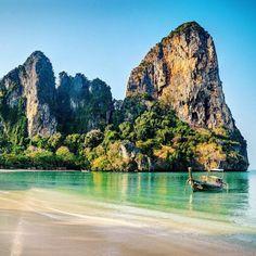 Cliffhanger. Railey beach, Thailand. #travelnoire
