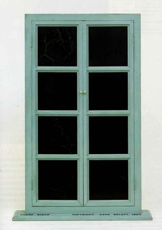 MARCEL DUCHAMP. Fresh Widow, 1920, painted wood frame and panes of glass covered with black leather. Dada.