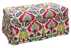 Paige Skirted Storage Bench, Flower on OneKingsLane.com
