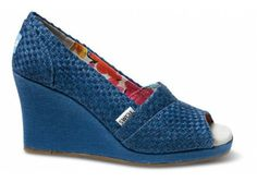 Toms Blue Savannah Wedges
