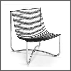 Abacus 700, 1973 Tubular steel, wire mesh Design: David Mellor Production: Abacus, UK