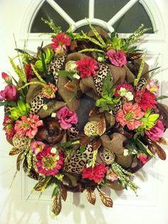 Burlap Wreath Door Wreath Spring Wreath Funky by TheJourneyAccents, $149.00