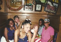 Us having fun @ the restaurant. Yeah we crazy like that! #Goodtimes