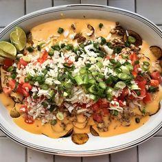 Pelasta maanantai törkeän hyvillä perunanachoilla! Resepti blogissa, linkki biossa.