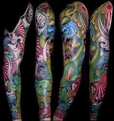 Traditional Tattoo: History and Symbolism of Traditional Tattoos - Tattoo Ideas & Trends Polynesian Tattoo Designs, Japanese Tattoo Designs, Japanese Tattoo Art, Japanese Sleeve Tattoos, Full Sleeve Tattoos, Sleeve Tattoos For Women, Tattoos For Guys, Tattoos Geometric, Modern Tattoos